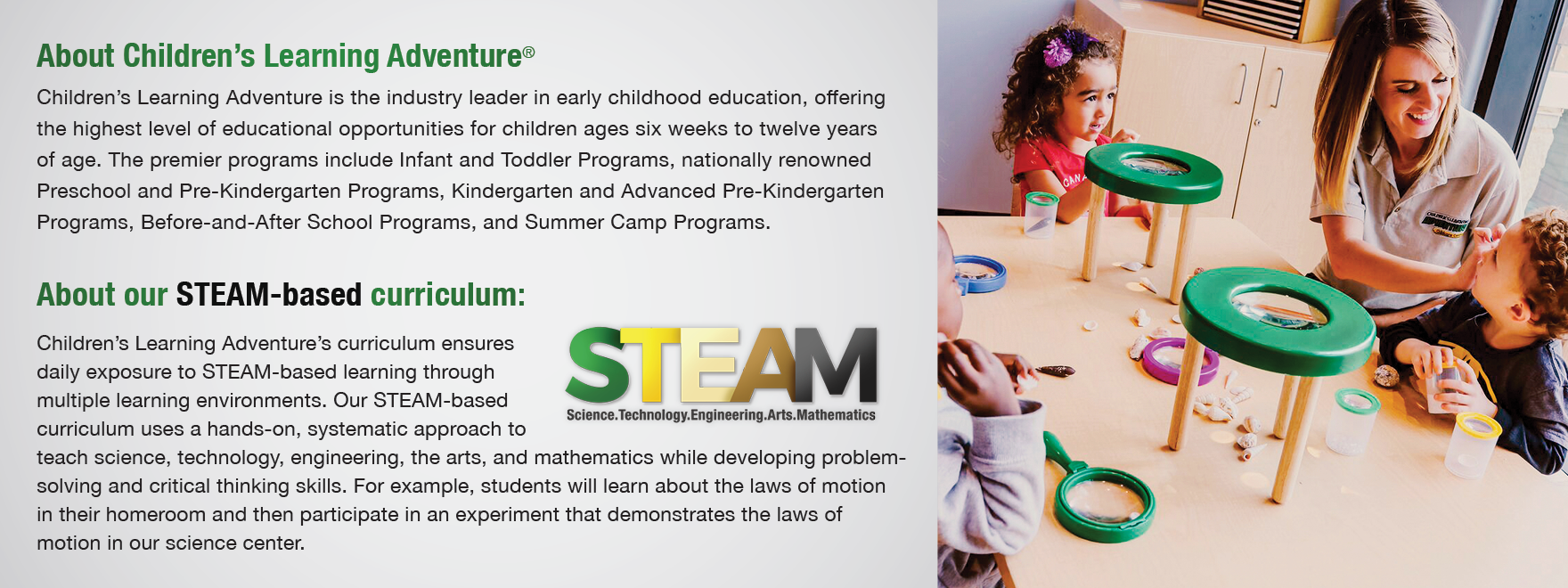 education kids programs STEAM Image